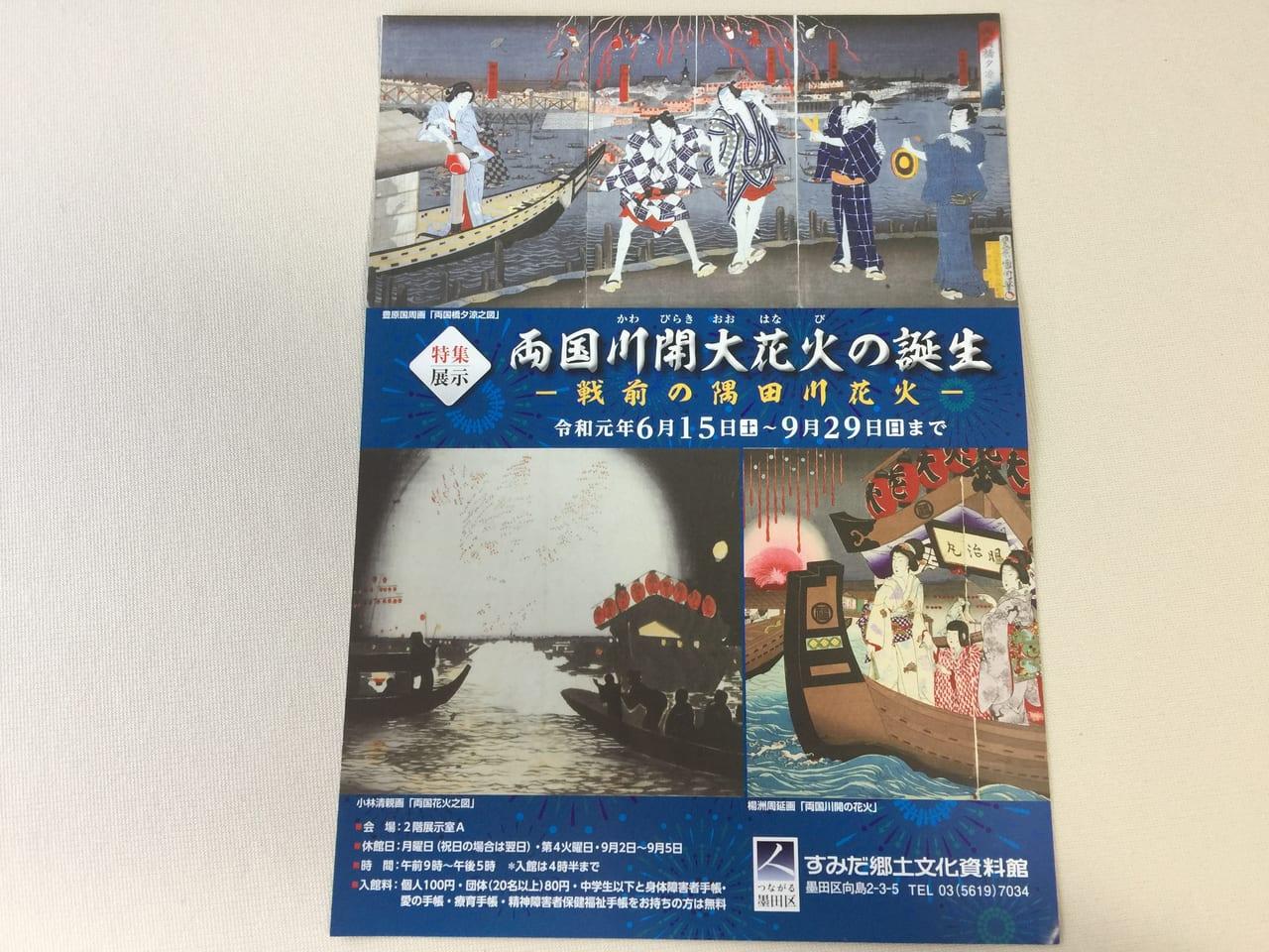 戦前の隅田川花火のチラシ