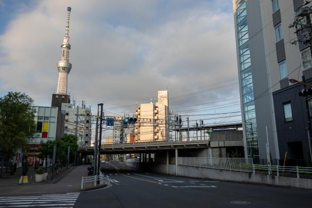 曳舟駅の高架