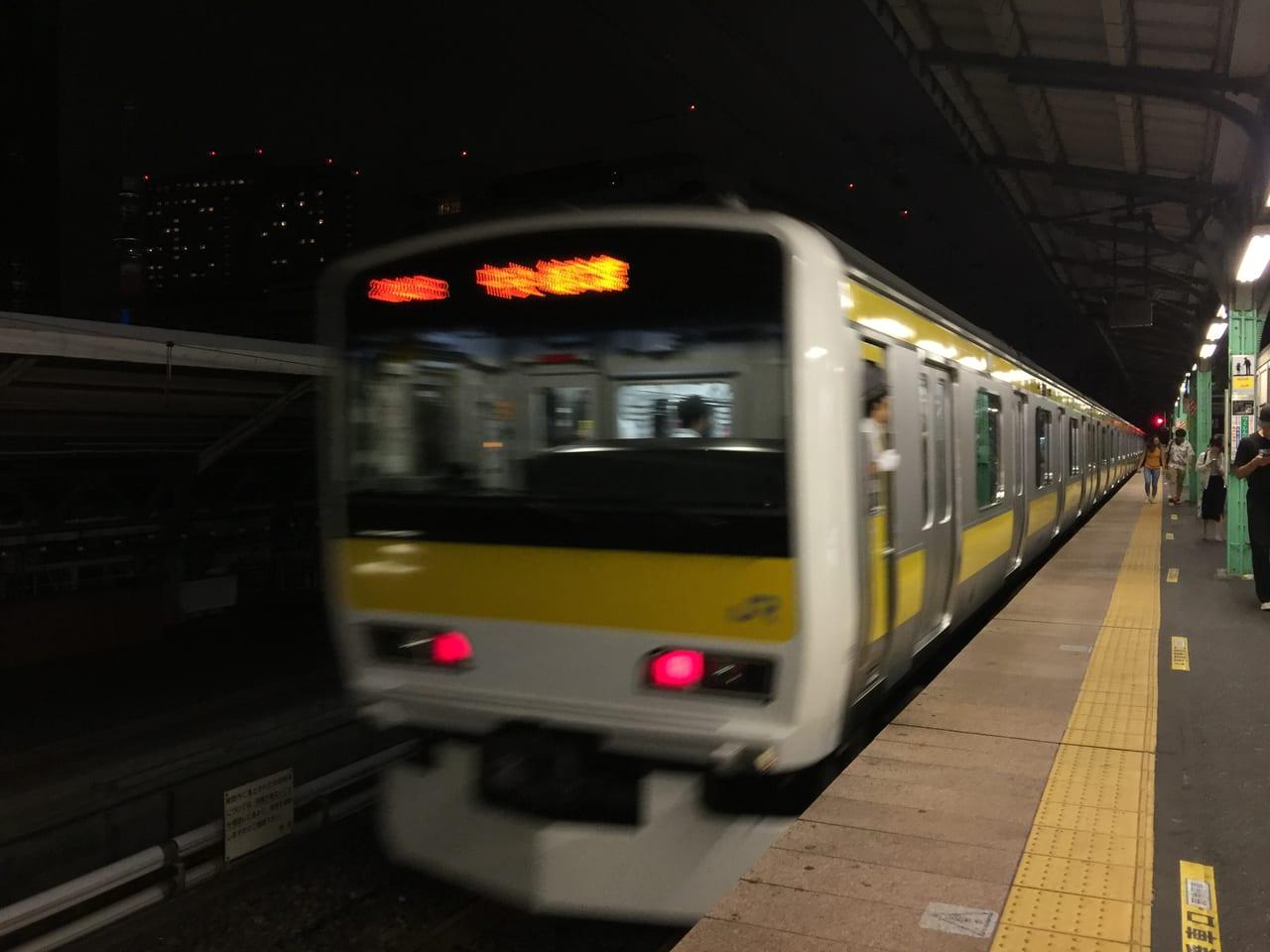 両国駅総武線