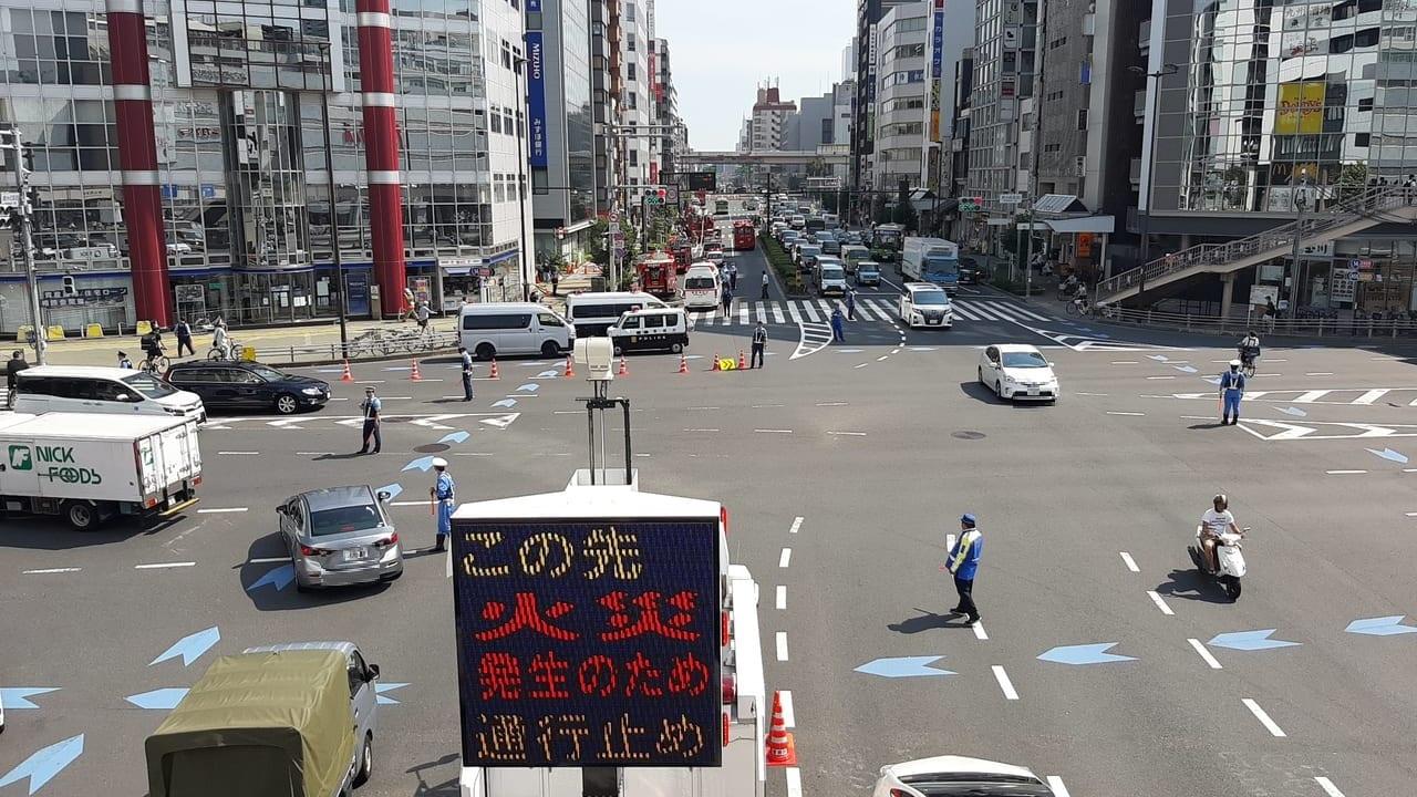 錦糸町交差点交通規制