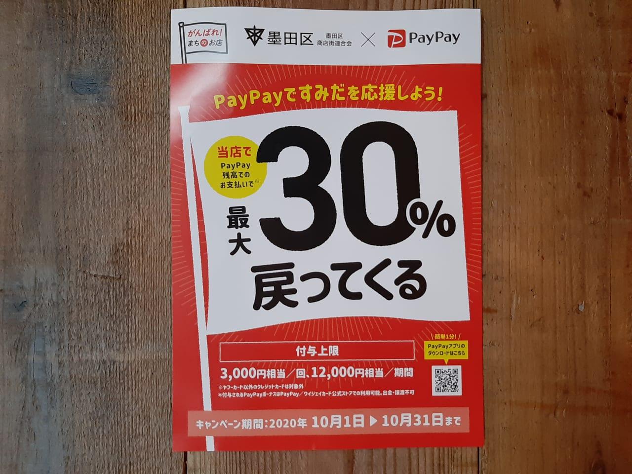 PayPay30%ポスター